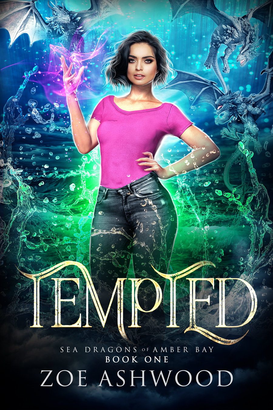Tempted - Sea Dragons of Amber Bay - a Reverse Harem Paranormal Romance by Zoe Ashwood