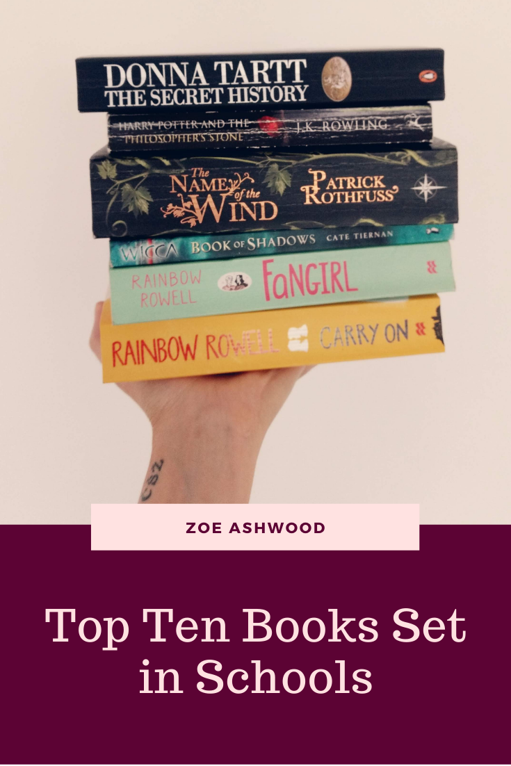 Top Ten Books Set in School - Zoe Ashwood Romance