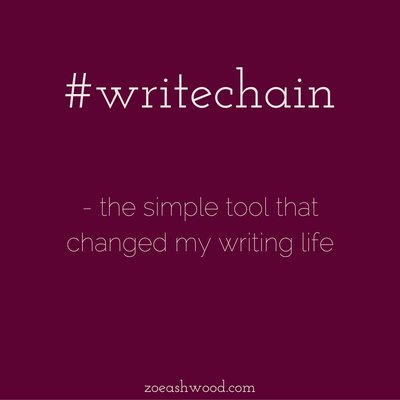 The Writechain Challenge - the Simple Tool that Changed My Writing Life