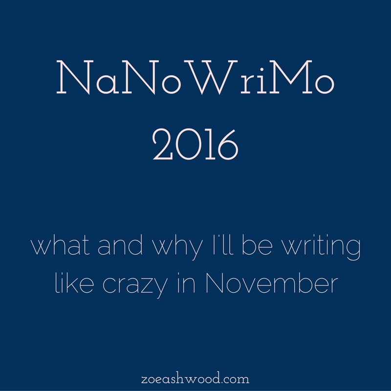 It's the end of October. In the writing community, this signals the approach of NaNoWriMo, which means most writers are freaking out online, trying to prepare for writing 50,000 words in 30 days. Crazy, right?