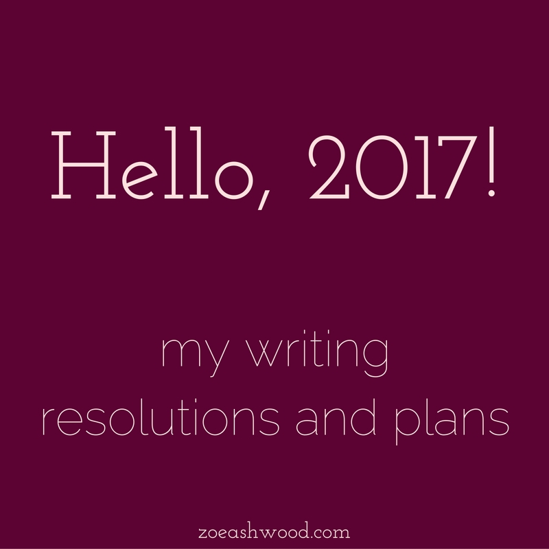 My writing resolutions and plans.