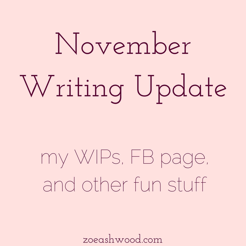 November Writing Update