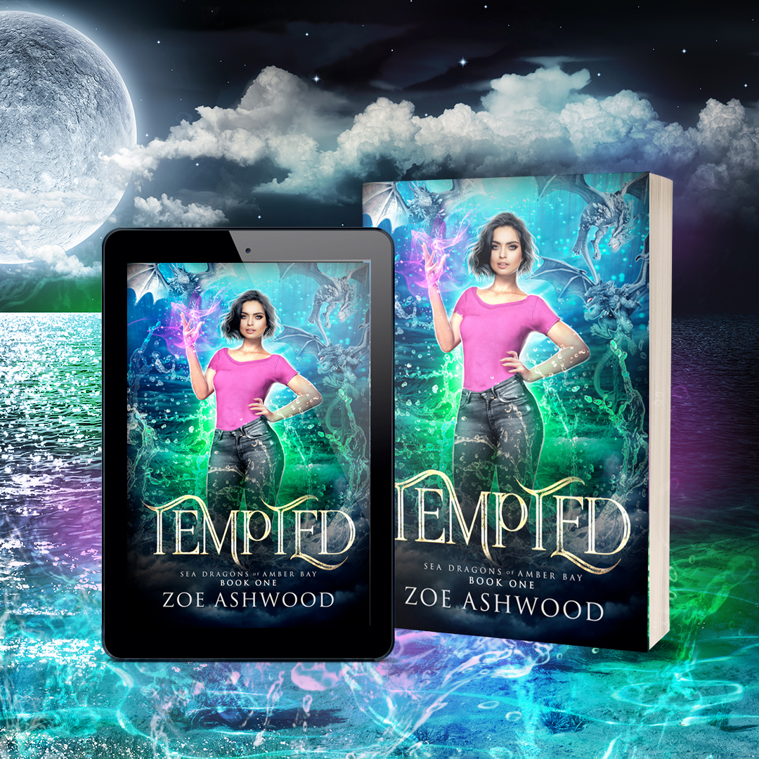 Tempted - Sea Dragons of Amber Bay, a Reverse Harem Paranormal Romance by Zoe Ashwood
